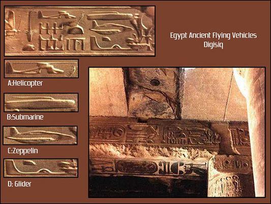 Misteri Relief Ufo & Kendaraan Canggih Di Kuil Abydos